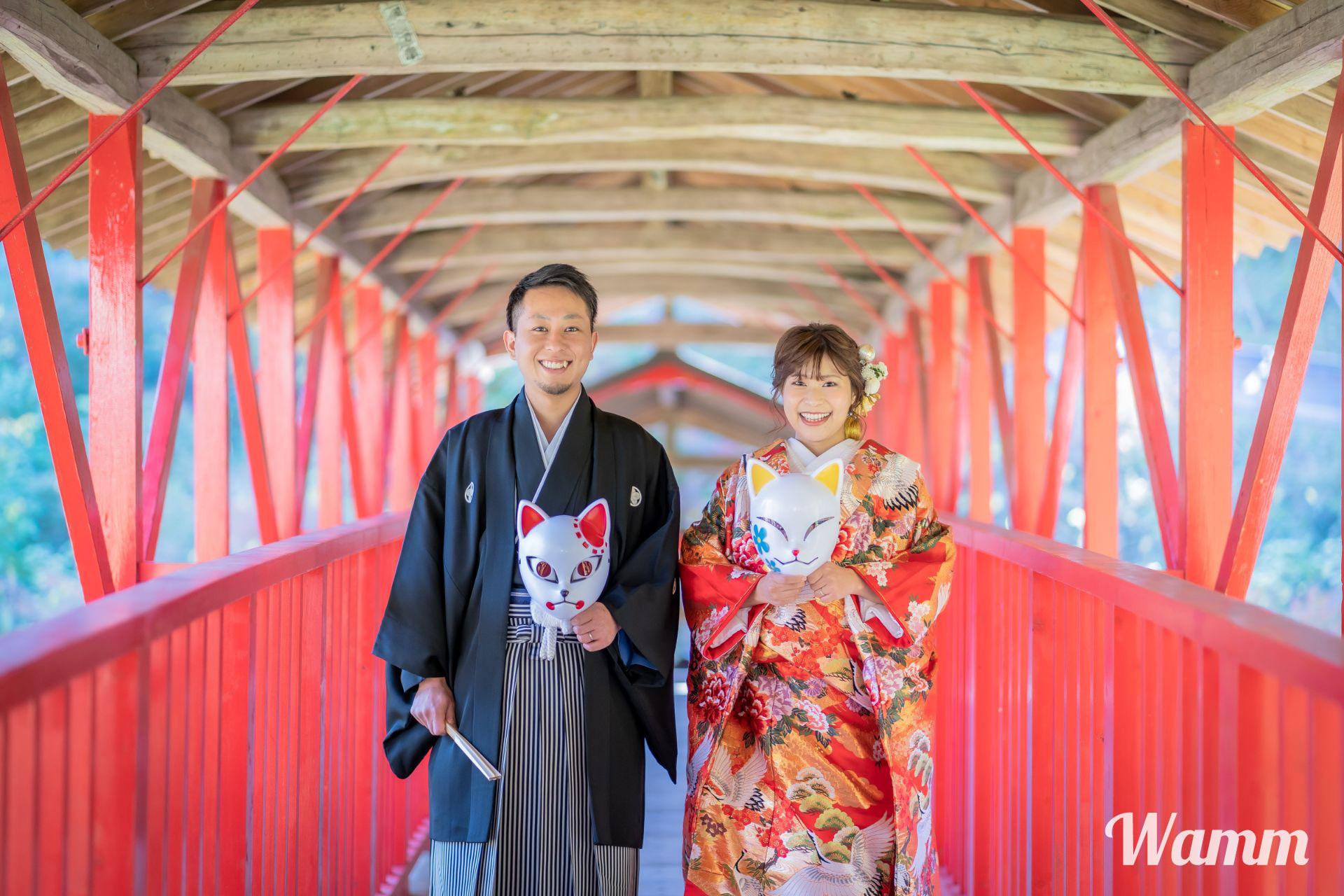 浜松・方広寺で「鬼滅の刃」風の結婚式前撮りしてきました